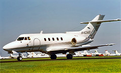 N42AS   Hawker-Siddeley HS.125/F3B [25150] New Orleans-Lakefront~N 11/10/2000 (raybarber2) Tags: 25150 airportdata bizjet brokenup cn25150 cancelled flickr knew n42as planebase print raybarber usacivil