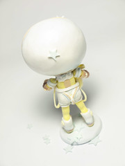 Hello My Dear Planet (eviexm) Tags: dollmaking figuremaking designertoy arttoy figurine astronaut heartyclay handmade chibi toyphotography