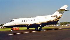 N886S   Hawker-Siddeley HS.125/700B [257025] New Orleans-Lakefront~N 11/10/2000 (raybarber2) Tags: 257025 airportdata bizjet cn257025 flickr knew n886s planebase print raybarber usacivil