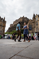 Edinburgh Swing Dance Society Grassmarket July 2019-137 (Philip Gillespie) Tags: city family girls urban men feet boys kids scotland dance hands women edinburgh swing heads friendly society grassmarket blue red colour green castle public yellow canon hair outside photography shoes arms faces legs outdoor event dresses hop lindy workshops classes 5dsr street moving open pavement spaces
