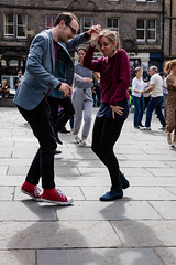 Edinburgh Swing Dance Society Grassmarket July 2019-125 (Philip Gillespie) Tags: edinburgh city urban swing dance society scotland grassmarket men women boys girls kids family friendly hands feet heads arms legs colour blue green red yellow castle outdoor outside canon 5dsr photography event workshops classes public lindy hop dresses hair faces shoes moving open spaces street pavement