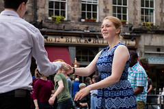 Edinburgh Swing Dance Society Grassmarket July 2019-118 (Philip Gillespie) Tags: edinburgh city urban swing dance society scotland grassmarket men women boys girls kids family friendly hands feet heads arms legs colour blue green red yellow castle outdoor outside canon 5dsr photography event workshops classes public lindy hop dresses hair faces shoes moving open spaces street pavement