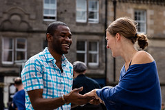 Edinburgh Swing Dance Society Grassmarket July 2019-124 (Philip Gillespie) Tags: edinburgh city urban swing dance society scotland grassmarket men women boys girls kids family friendly hands feet heads arms legs colour blue green red yellow castle outdoor outside canon 5dsr photography event workshops classes public lindy hop dresses hair faces shoes moving open spaces street pavement