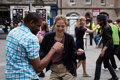 Edinburgh Swing Dance Society Grassmarket July 2019-117 (Philip Gillespie) Tags: edinburgh city urban swing dance society scotland grassmarket men women boys girls kids family friendly hands feet heads arms legs colour blue green red yellow castle outdoor outside canon 5dsr photography event workshops classes public lindy hop dresses hair faces shoes moving open spaces street pavement