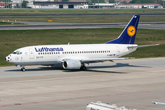 D-ABEF (PlanePixNase) Tags: eddt tegel txl berlin airport aircraft planespotting lufthansa 737 boeing 737300 b733 fusballnase wm2006