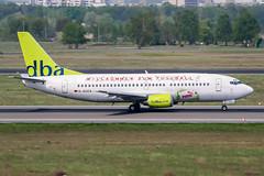 D-AGEA (PlanePixNase) Tags: eddt tegel txl berlin airport aircraft planespotting boeing b733 737300 737 dba deutscheba willkommenzumfusball wm2006