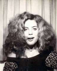 Stoned Photo Booth Girl (kevin63) Tags: lightner photoshop portrait photos colorized teenager 20thcentury 1970s blackandwhite restored photobooth stoned buzzed wild redhead woman youngwoman