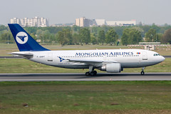 F-OHPT (PlanePixNase) Tags: eddt tegel txl berlin airport aircraft planespotting airbus 310 a310 mongolian airlines