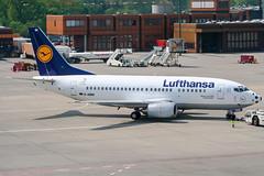 D-ABIN (PlanePixNase) Tags: eddt tegel txl berlin airport aircraft planespotting lufthansa 737 boeing 737500 b735 fusballnase wm2006