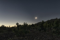 2019-07-02 Eclipse totality from Vicuña - Ending (flurryofsmoke) Tags: eclipse totality totalsolareclipse astronomy sun moon sky corona shadow widefield landscape avocado trees valledelelqui elquivalley vicuña chile hdr