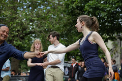 Edinburgh Swing Dance Society Grassmarket July 2019-191 (Philip Gillespie) Tags: edinburgh city urban swing dance society scotland grassmarket men women boys girls kids family friendly hands feet heads arms legs colour blue green red yellow castle outdoor outside canon 5dsr photography event workshops classes public lindy hop dresses hair faces shoes moving open spaces street pavement