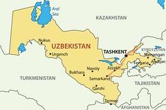 Mapa Uzbekistan (A cop de pedal) Tags: map illustration yellow country land geography territory city town capital image light border blue geographic geographical state central asia lake sea republic uzbekistan aral tashkent uzbek