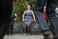 Edinburgh Swing Dance Society Grassmarket July 2019-240 (Philip Gillespie) Tags: edinburgh city urban swing dance society scotland grassmarket men women boys girls kids family friendly hands feet heads arms legs colour blue green red yellow castle outdoor outside canon 5dsr photography event workshops classes public lindy hop dresses hair faces shoes moving open spaces street pavement