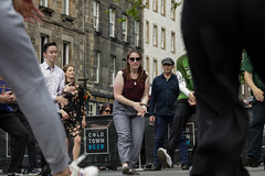 Edinburgh Swing Dance Society Grassmarket July 2019-236 (Philip Gillespie) Tags: edinburgh city urban swing dance society scotland grassmarket men women boys girls kids family friendly hands feet heads arms legs colour blue green red yellow castle outdoor outside canon 5dsr photography event workshops classes public lindy hop dresses hair faces shoes moving open spaces street pavement