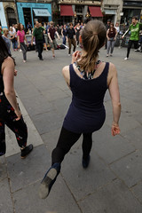 Edinburgh Swing Dance Society Grassmarket July 2019-230 (Philip Gillespie) Tags: edinburgh city urban swing dance society scotland grassmarket men women boys girls kids family friendly hands feet heads arms legs colour blue green red yellow castle outdoor outside canon 5dsr photography event workshops classes public lindy hop dresses hair faces shoes moving open spaces street pavement