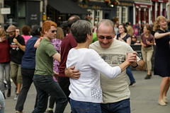 Edinburgh Swing Dance Society Grassmarket July 2019-219 (Philip Gillespie) Tags: edinburgh city urban swing dance society scotland grassmarket men women boys girls kids family friendly hands feet heads arms legs colour blue green red yellow castle outdoor outside canon 5dsr photography event workshops classes public lindy hop dresses hair faces shoes moving open spaces street pavement