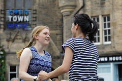 Edinburgh Swing Dance Society Grassmarket July 2019-206 (Philip Gillespie) Tags: edinburgh city urban swing dance society scotland grassmarket men women boys girls kids family friendly hands feet heads arms legs colour blue green red yellow castle outdoor outside canon 5dsr photography event workshops classes public lindy hop dresses hair faces shoes moving open spaces street pavement