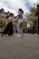 Edinburgh Swing Dance Society Grassmarket July 2019-242 (Philip Gillespie) Tags: edinburgh city urban swing dance society scotland grassmarket men women boys girls kids family friendly hands feet heads arms legs colour blue green red yellow castle outdoor outside canon 5dsr photography event workshops classes public lindy hop dresses hair faces shoes moving open spaces street pavement