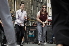 Edinburgh Swing Dance Society Grassmarket July 2019-238 (Philip Gillespie) Tags: edinburgh city urban swing dance society scotland grassmarket men women boys girls kids family friendly hands feet heads arms legs colour blue green red yellow castle outdoor outside canon 5dsr photography event workshops classes public lindy hop dresses hair faces shoes moving open spaces street pavement
