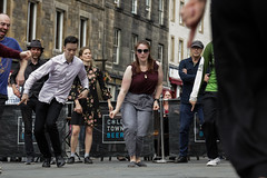 Edinburgh Swing Dance Society Grassmarket July 2019-237 (Philip Gillespie) Tags: edinburgh city urban swing dance society scotland grassmarket men women boys girls kids family friendly hands feet heads arms legs colour blue green red yellow castle outdoor outside canon 5dsr photography event workshops classes public lindy hop dresses hair faces shoes moving open spaces street pavement