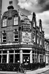 Royal Oak – Columbia Road (marc.barrot) Tags: shotoniphone monochrome pub building uk e2 london shoreditch columbiaroad theroyaloak