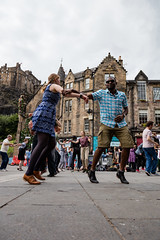 Edinburgh Swing Dance Society Grassmarket July 2019-152 (Philip Gillespie) Tags: edinburgh city urban swing dance society scotland grassmarket men women boys girls kids family friendly hands feet heads arms legs colour blue green red yellow castle outdoor outside canon 5dsr photography event workshops classes public lindy hop dresses hair faces shoes moving open spaces street pavement