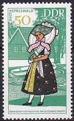 Deutsche Briefmarken (micky the pixel) Tags: briefmarke stamp ephemera deutschland deutschepost ddr tracht costume volkstracht spreewald