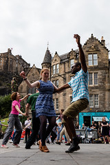 Edinburgh Swing Dance Society Grassmarket July 2019-149 (Philip Gillespie) Tags: edinburgh city urban swing dance society scotland grassmarket men women boys girls kids family friendly hands feet heads arms legs colour blue green red yellow castle outdoor outside canon 5dsr photography event workshops classes public lindy hop dresses hair faces shoes moving open spaces street pavement