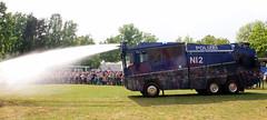 Narrow nozzle (Schwanzus_Longus) Tags: delmenhorst german germany modern vehicle truck lorry riot control law enforcement police polizei mercedes benz actros