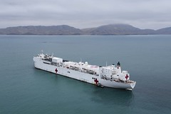 USNS Comfort is anchored off the coast of Callao, Peru.
