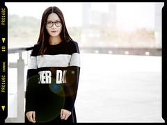 (Tobias BC) Tags: sony sonya7m2 shenzhen sonyfe50mmf18 china girl glasses black dress skirt lovely long hair straight happyplanet asiafavorites