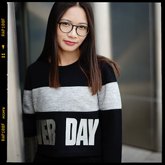(Tobias BC) Tags: sony sonya7m2 shenzhen sonyfe50mmf18 china girl glasses black dress skirt lovely long hair straight