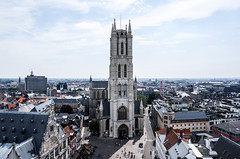 La Cathédrale Saint-Bavon de Gand (MikeTheExplorer) Tags: gent gand ghent belgië belgique belgium europe europa travel traveling traveler wanderlust explore discover cathedral church panorama skyline architecture fujifilm fujifilmxt100 camera composition