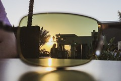 When in need of a filter...improvise (Dan Elms Photography) Tags: vacation summer hotel setting evening sun sunset chiclana holiday spain danelmsphotography danelms iphone sunglasses improvise filter
