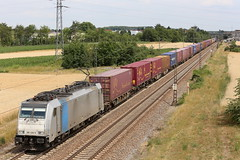 LINEAS 186 456-0 Containerzug, Graben (michaelgoll777) Tags: lineas br186 traxx railpool