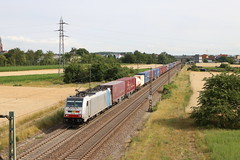 LINEAS 186 258-0 Containerzug, Graben (michaelgoll777) Tags: lineas br186 traxx railpool