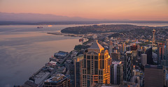 Seattle Dawn Panorama (www.mikereidphotography.com) Tags: seattle sunrise gfx50s fuji mediumformat city urban 23mm otus 85mm
