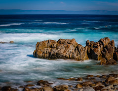 Rocks in the Mist No.2 (CDay DaytimeStudios w /1 Million views) Tags: ca pebblebeach water 17miledrive pacificcoasthighway bluesky california highway1 montereyca pacificgrove carmelca ocean pacificcoast beach sky seascape coastline landscape rocks montereybay