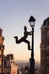 (dimitryroulland) Tags: nikon d750 85mm 18 dimitryroulland performer art artist paris france montmartre sunrise sun rise natural light lamp post poledance poledancer pole dance dancer