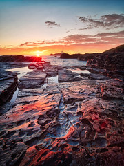 Godrevy Sunset (Timothy Gilbert) Tags: lighthouse wideangle sunset godrevy lumix laowacompactdreamer75mmf20 rocks gwithian beach godrevyheritagecoast m43 microfourthirds microfournerds gx8 panasonic coast lovecornwall cornwall