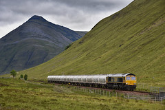 West Highland Freight (wwatfam) Tags: gbrf class 66 66738 general motors alumina freight train west highlands tyndrum upper scotland britain trains railways railroad transport