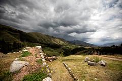 Puka Pukara, Peru (Ben-ah) Tags: mountain peru clouds ruins cusco terraces fortress tambomachay pukapukara inca redfortress valley