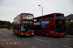 Go-Ahead London PVL284 & Stagecoach London 17843 on Route 472, Thamesmead (e400olympus) Tags: goahead london pvl284 pj02rcu volvo b7tl plaxton president stagecoach 17843 lx03byv alexander dennis trident alx400