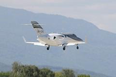 SP-CHE (IndiaEcho) Tags: airport geneva civil airfield gva lsgg cointrin canon eos switzerland aircraft aviation aeroplane 1000d 420 hondajet spche