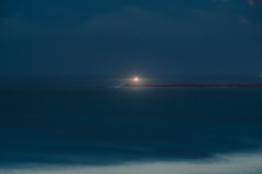 To the lighthouse (elsableda) Tags: durban south africa lighthouse ocean lights blue twilight water