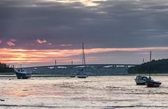 _CNE1269 (Chris Elmy) Tags: river bridge pinmill orwell ipswich nikond300 nikon sunset suffolk boat lowtide