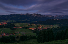 Mountain View !BAVARIA! (alexander_skaletz) Tags: nature gras details tees sigma sigmadeutschland nikon nikondeutschland mood spring warm village green orange mountains new sunlight germany landscape landscapephotography tree night eve evening clouds cloudy