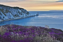 The Needles (Nige H (Thanks for 20m views)) Tags: nature landscape sea seascape england isleofwight theneedles summer sunset