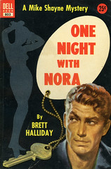 Dell Books 803 - Brett Halliday - One Night with Nora (swallace99) Tags: dell vintage 50s murder mystery paperback robertstanley silhouette