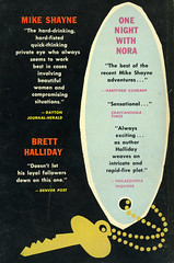 Dell Books 803 - Brett Halliday - One Night with Nora (back) (swallace99) Tags: dell vintage 50s murder mystery paperback